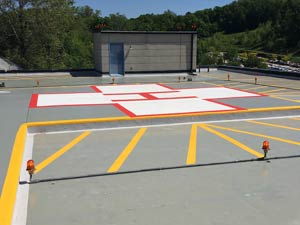Helicopter pad restored and then protected with Belzona 5111