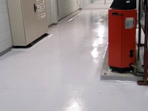 Plant room floor bund coated with Belzona 5231 (SG Laminate)