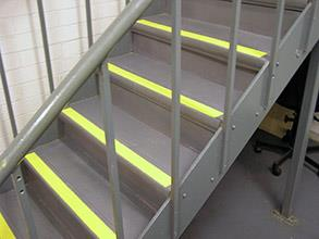 Steps quickly restored with Belzona 4411 (Granogrip) in grey and yellow